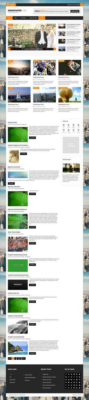 WordPress news theme free