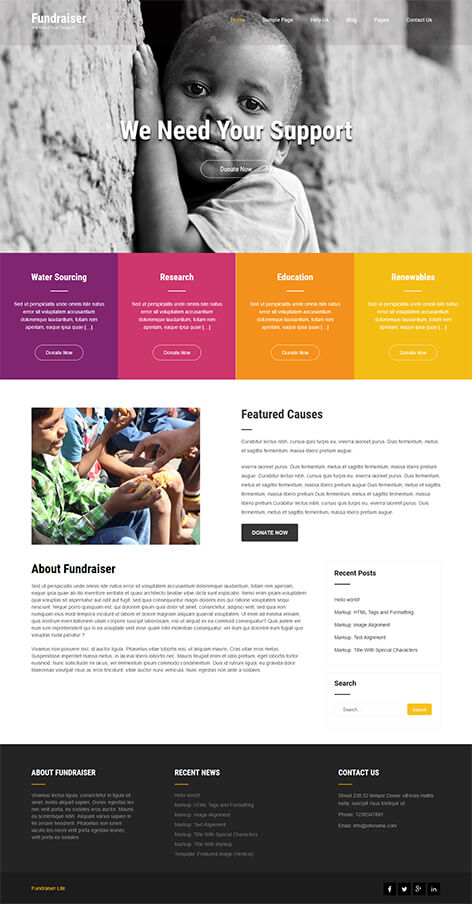 free NGO WordPress theme