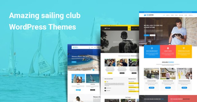 Amazing sailing club WordPress themes