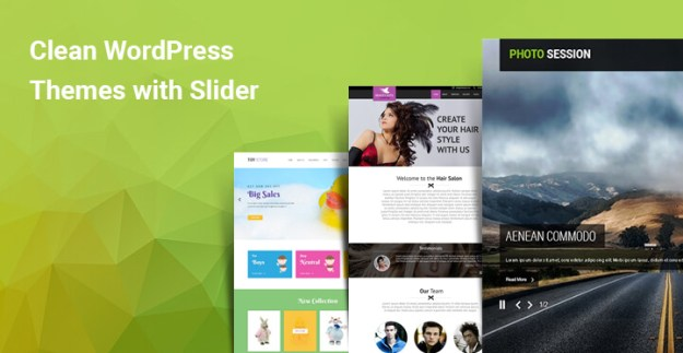 Clean WordPress themes with slider