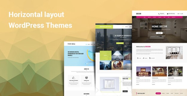 Horizontal Layout WordPress Themes