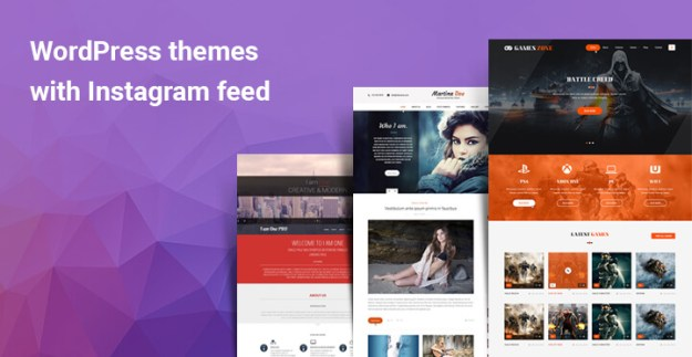 WordPress themes with Instagram feed