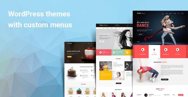 WordPress themes with custom menus