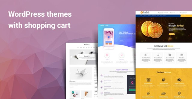 WordPress themes with shopping cart