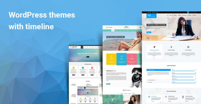 WordPress themes with timeline