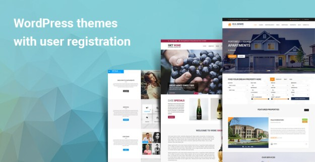 WordPress themes with user registration