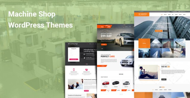 Machine shop WordPress theme
