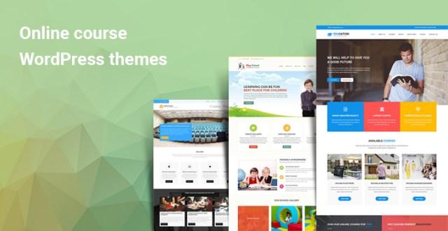 Online course WordPress themes