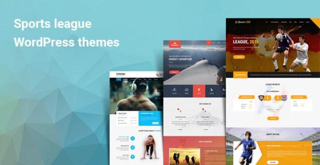 Sports league WordPress themes
