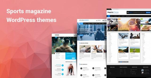 Sports magazine WordPress themes