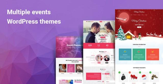 Multiple events WordPress themes