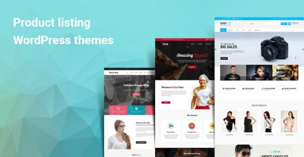 Product listing WordPress themes