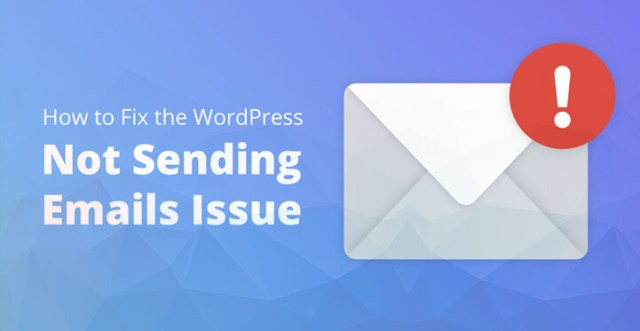WordPress Not Sending Email Issue