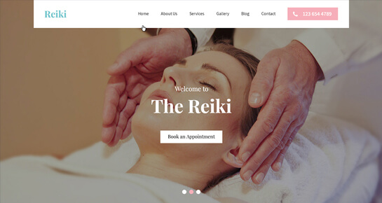 Reiki WordPress theme