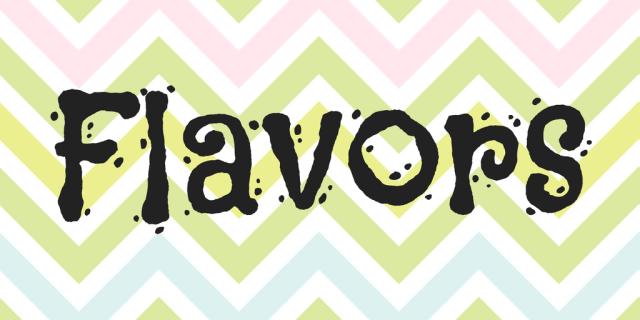 flavors font