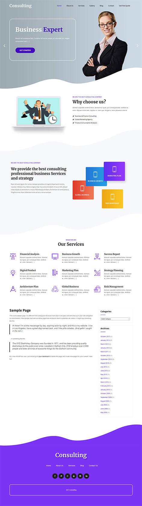 free financial WordPress theme