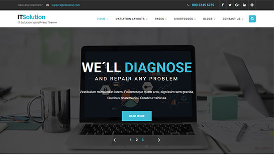 IT solutions WordPress theme