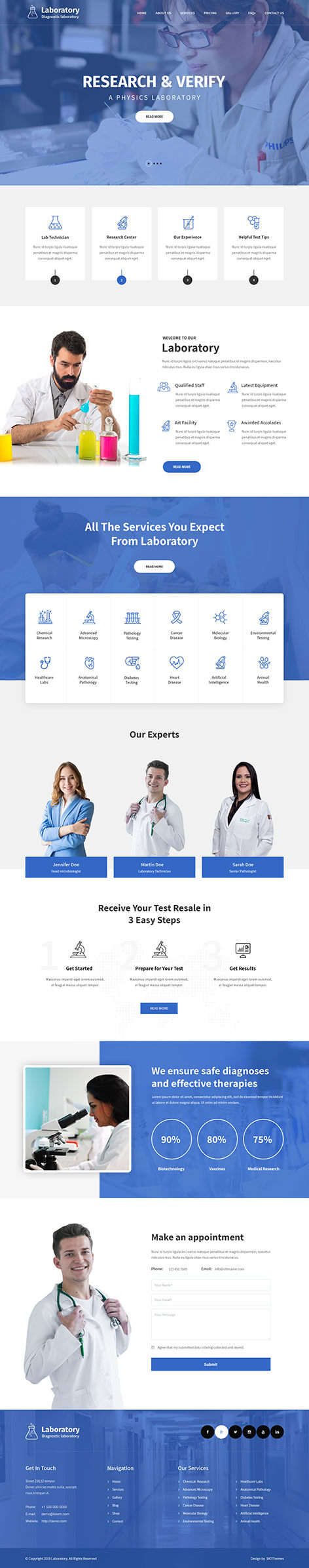 Laboratory WordPress theme