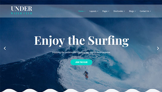 underwater WordPress theme
