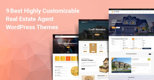 Customizable Real Estate Agent WordPress themes