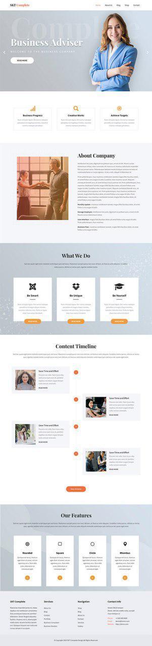 free modern WordPress theme