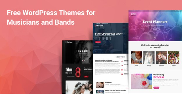 Free WordPress Themes for Musicians and Bands