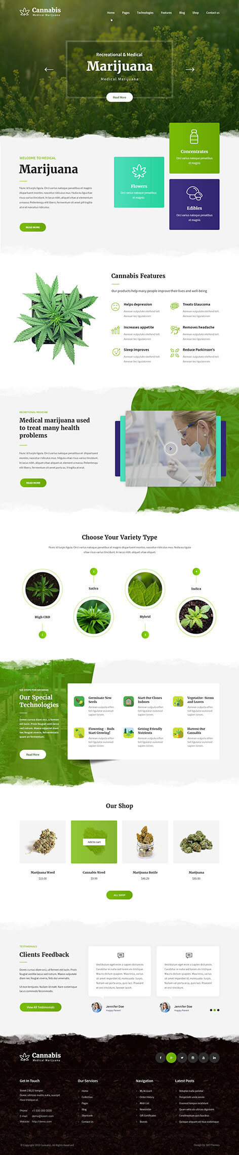 marijuana dispensary WordPress theme