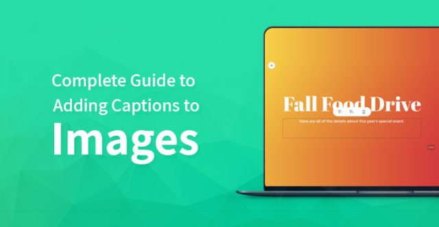 adding captions to images