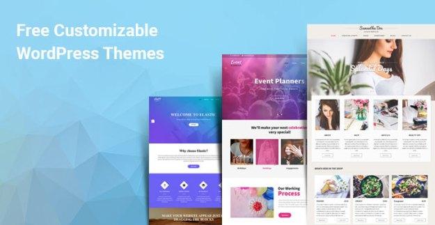 free customizable WordPress themes