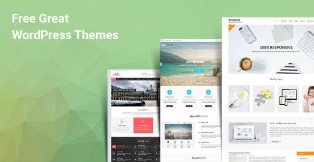 Great free WordPress themes