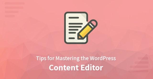WordPress content editor