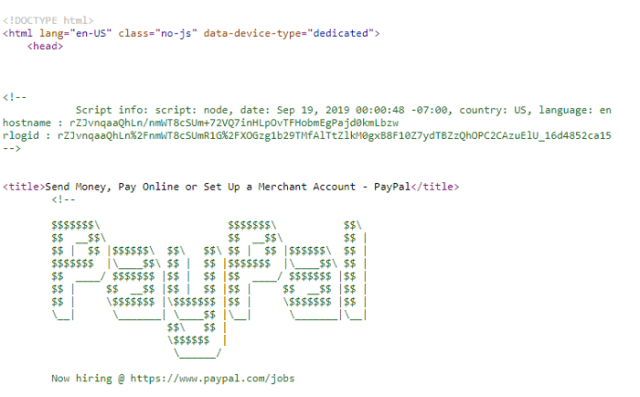 paypal source code