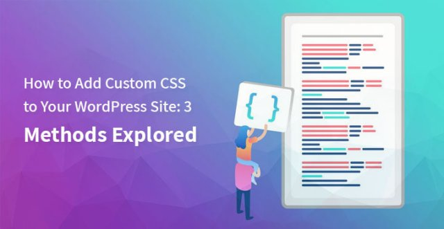 add custom CSS WordPress