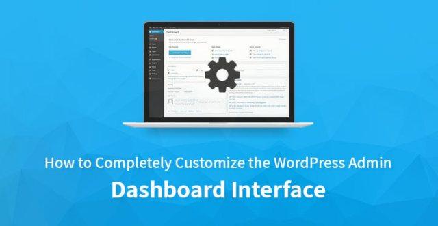 customize WordPress admin interface