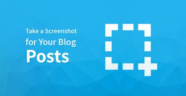 screenshot for your blog posts