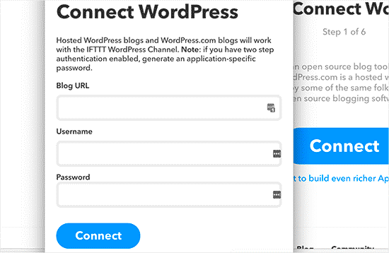 IFTTT Connect WP