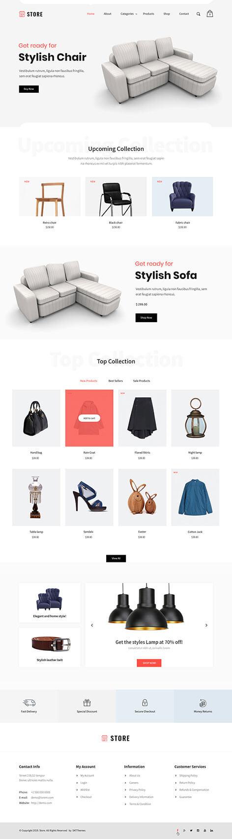 products WordPress theme