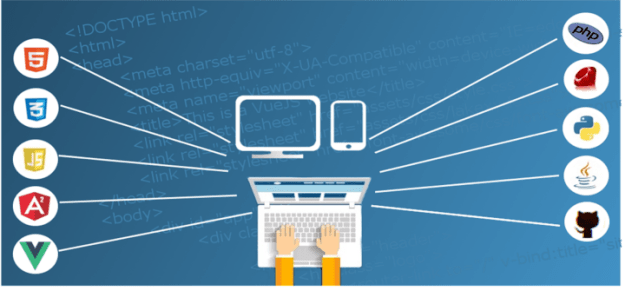 web developer working