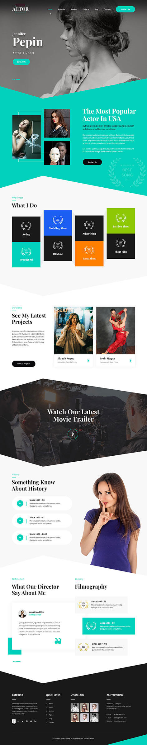 actor WordPress theme