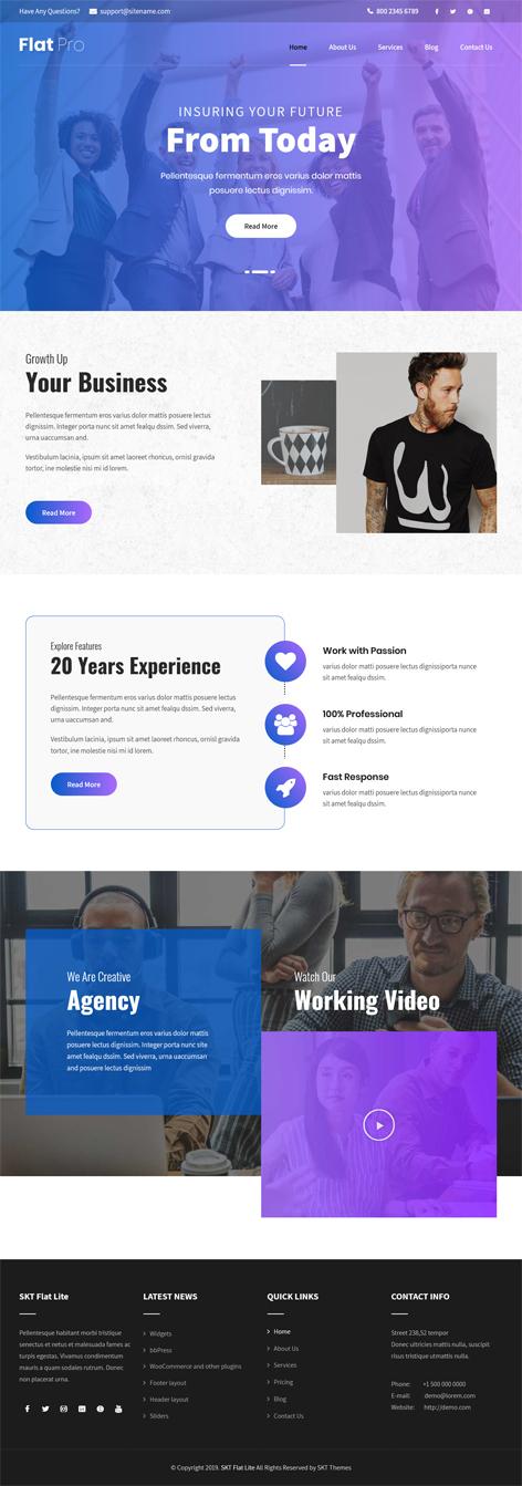 free landing page WordPress theme