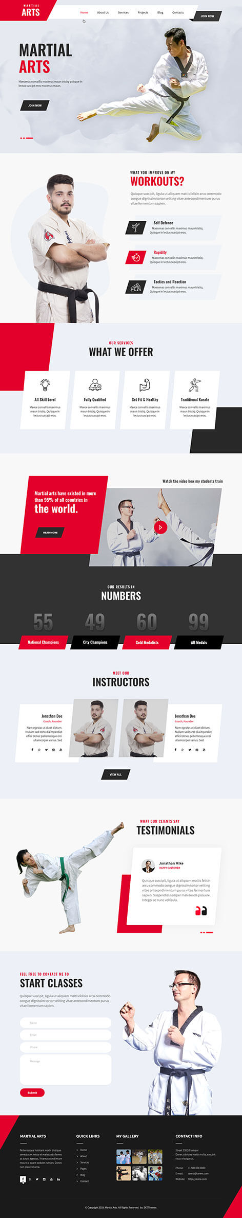 martial arts WordPress theme