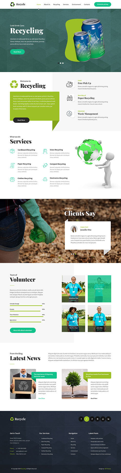 recycle WordPress theme