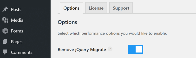 remove jquery migrate plugin