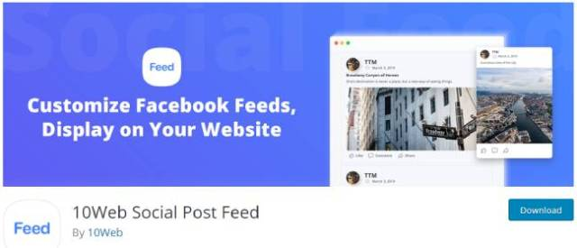 10 web social post feed