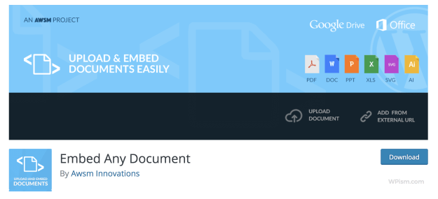 Embed Any Document Plugin