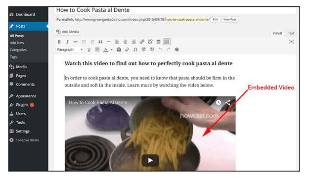 Embedding Videos In WordPress