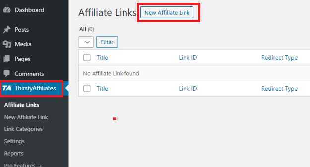 New Thirsty Affiliates Link