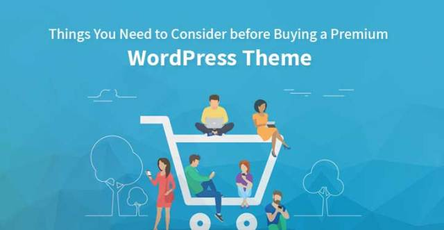 buying a premium WordPress theme