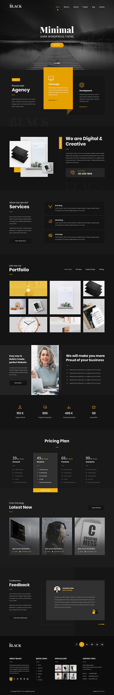 black WordPress theme