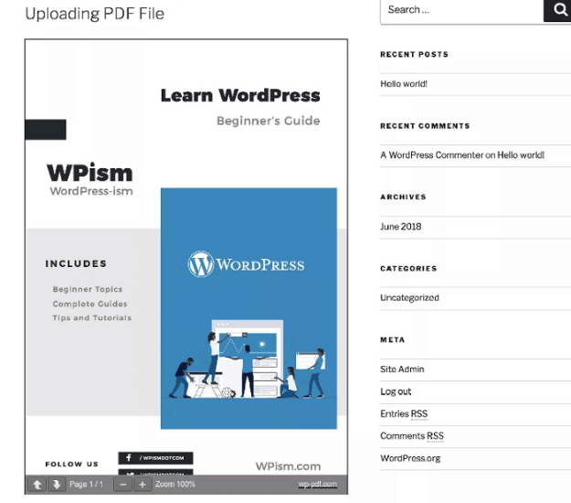 uploading PDF